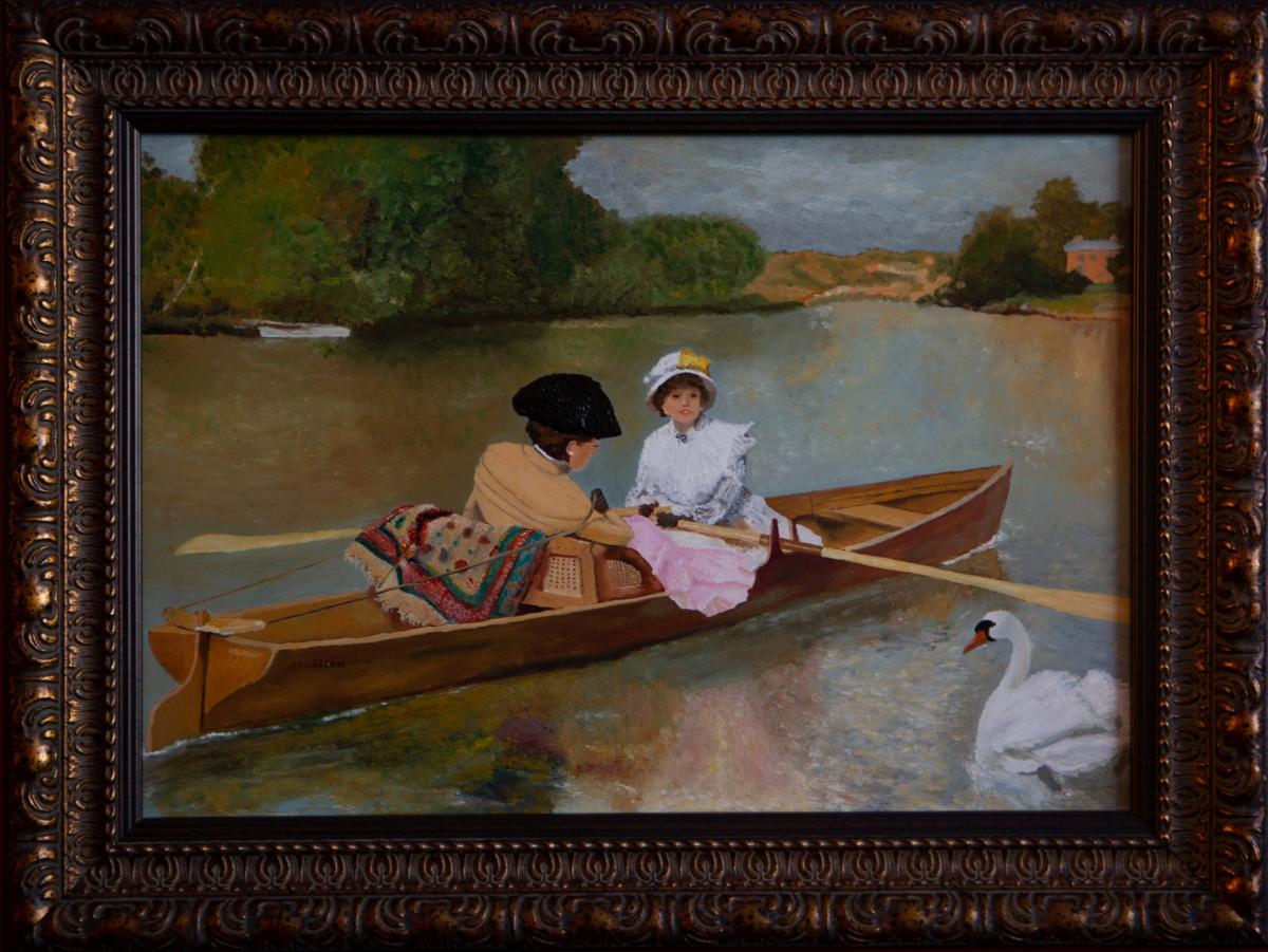 Boottochtje over de Seine 1880 van Ferdinand Heilbuth (2014)