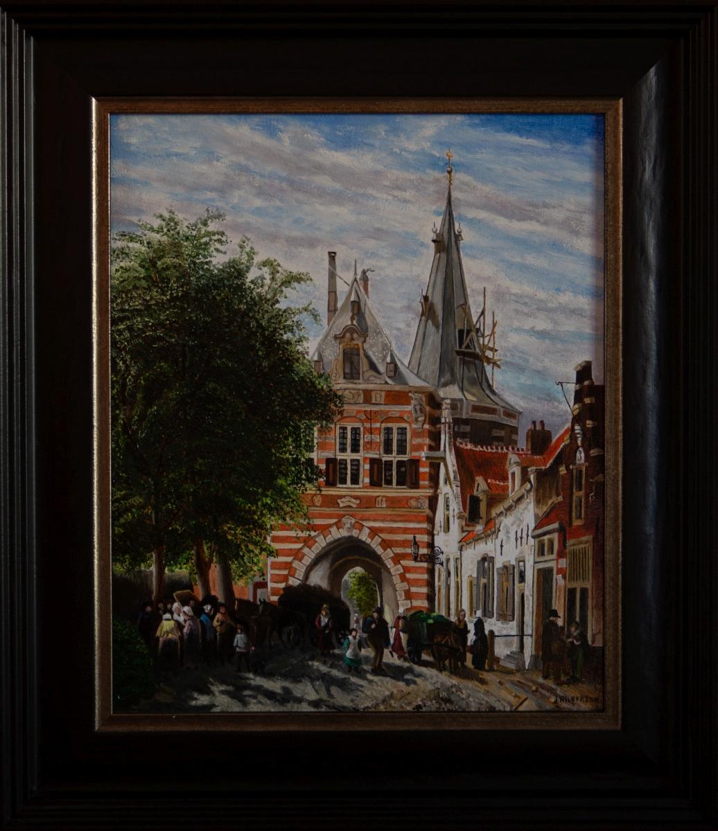 Cellebroerders poort in Kampen 1860 van Cornelis Springer (2016)