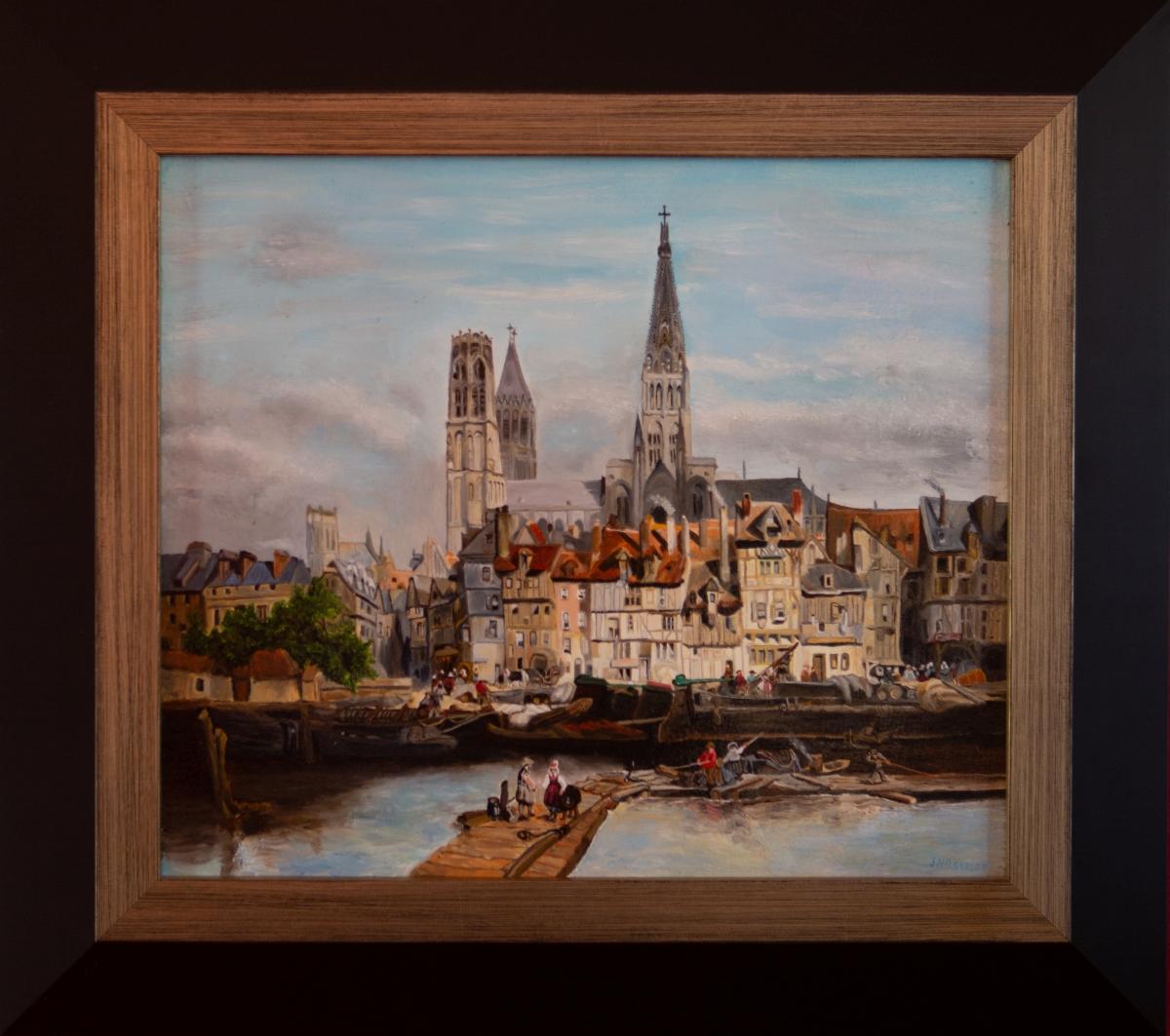 De Parijse kade in Rouen 1839 van Johannes Bosboom (2018)