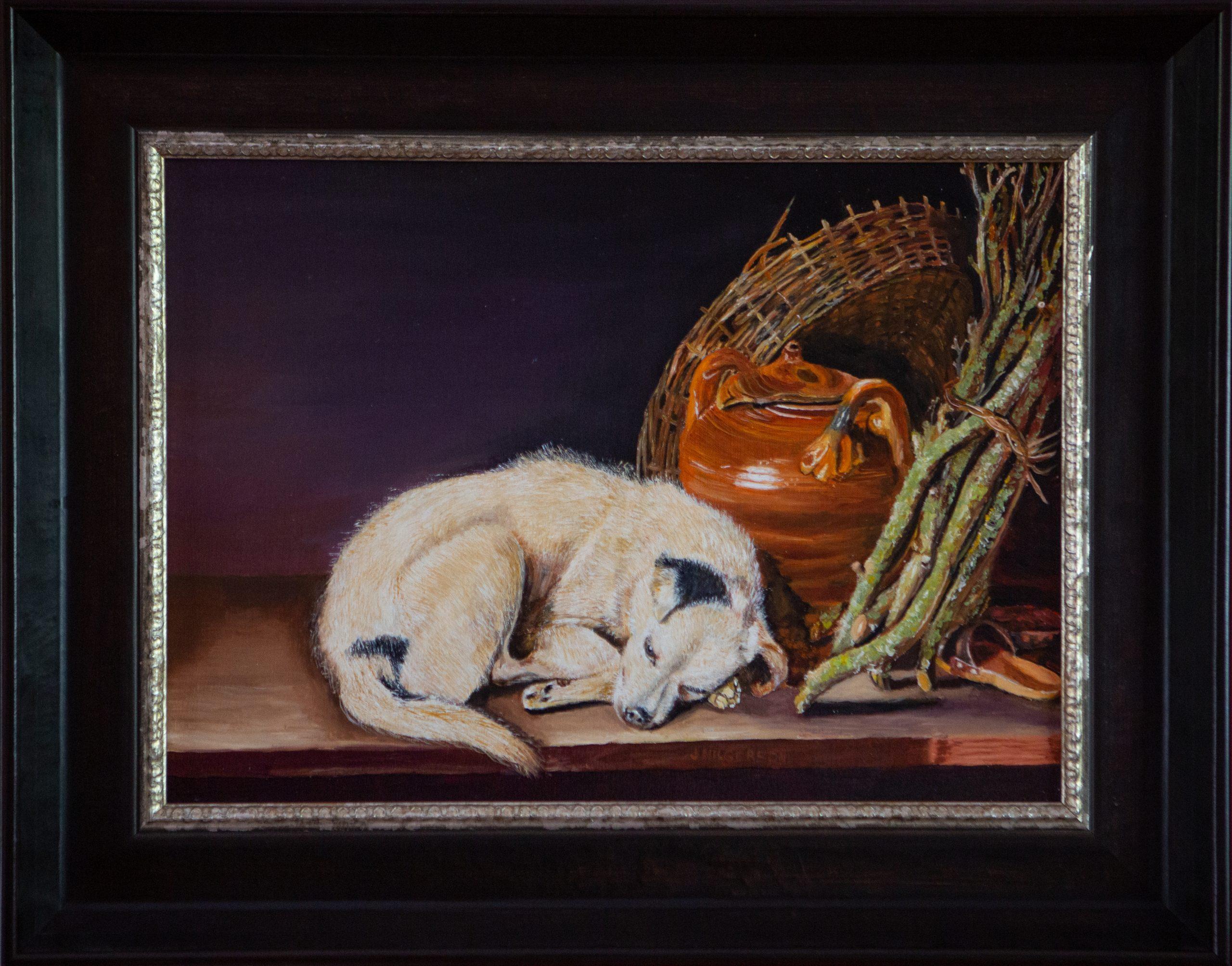 Een slapende hond 1650 Gerrit Dou (2015)