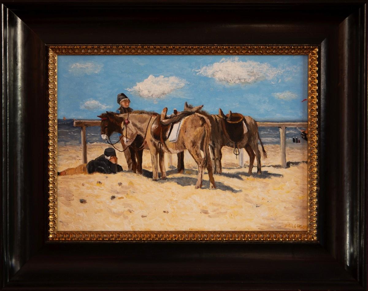 Ezeltjes aan het strand 1876 van Anton Mauve (2014)