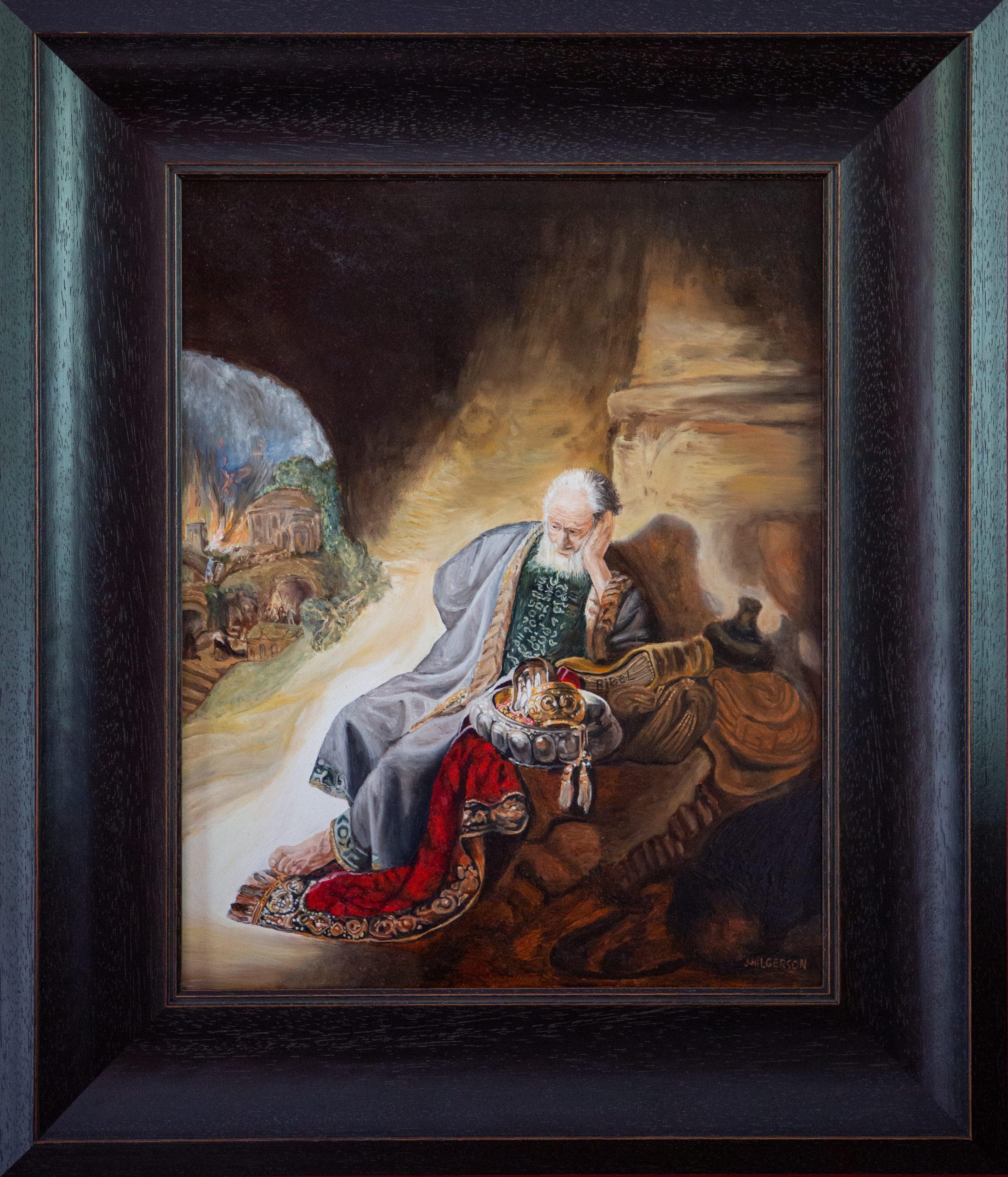 Jeremia treurend over de verwoesting van Jeruzalem 1630 Van Rembrandt van Rijn (2019)