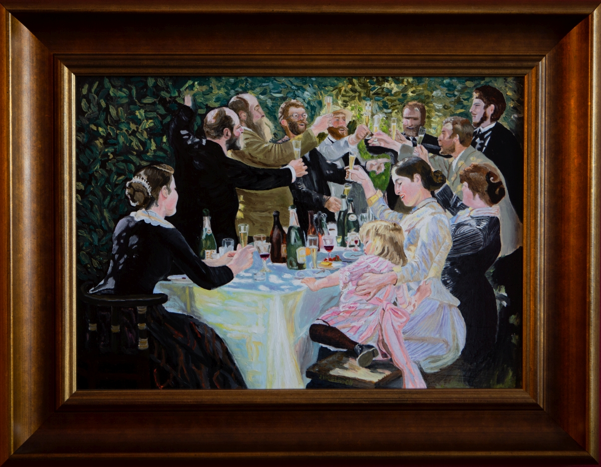 Kunstenaarskolonie in Skagen die een toast uitbrengen 1888 van Peder Severin Kroyer (2016)