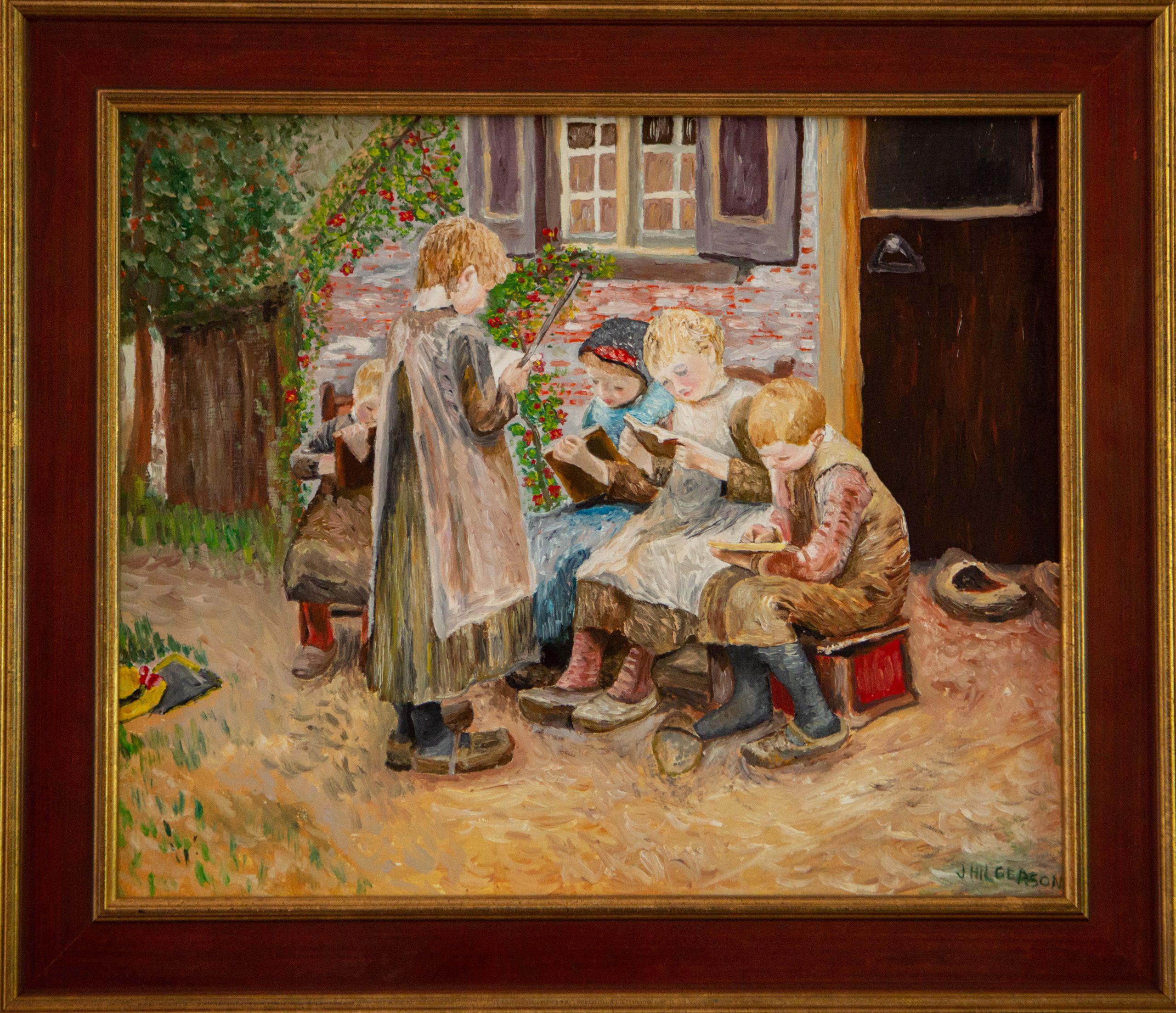 Schooltje spelen van Bernadus Johannes Blommers (2014)