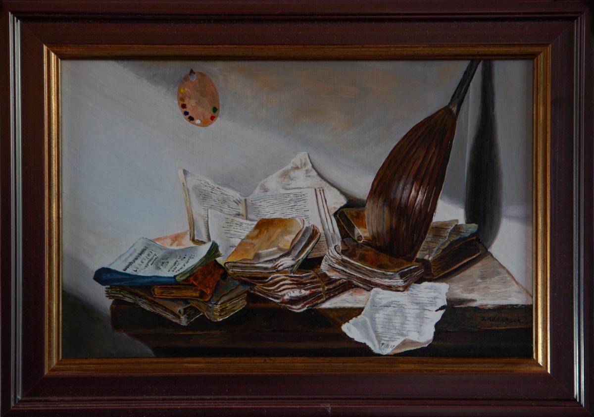 Stilleven met boeken 1625-1630 van Jan Davids zoon de Heem (2016)