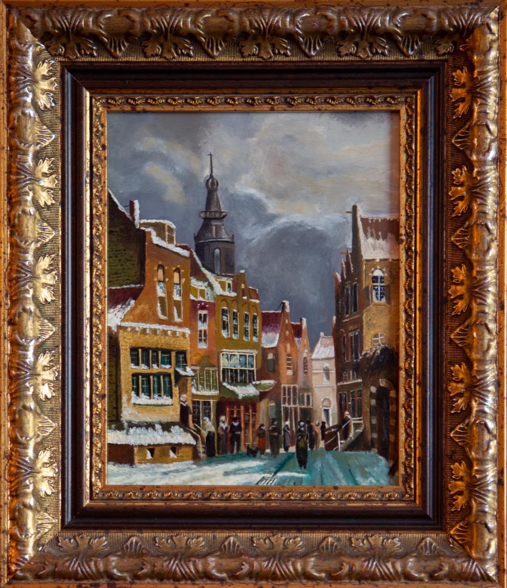Winters stadsgezicht 1819-1893 van Petrus Gerardus Vertin (2013)