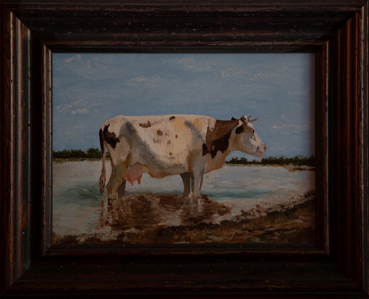 Witte koe 1884 van Anton Mauve