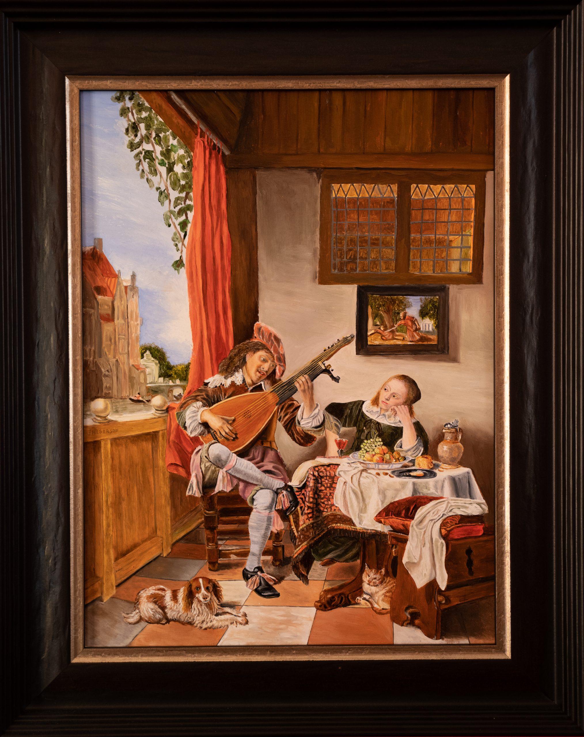 De Luitspeler van Hendrick Martenszoon Sorg 1661