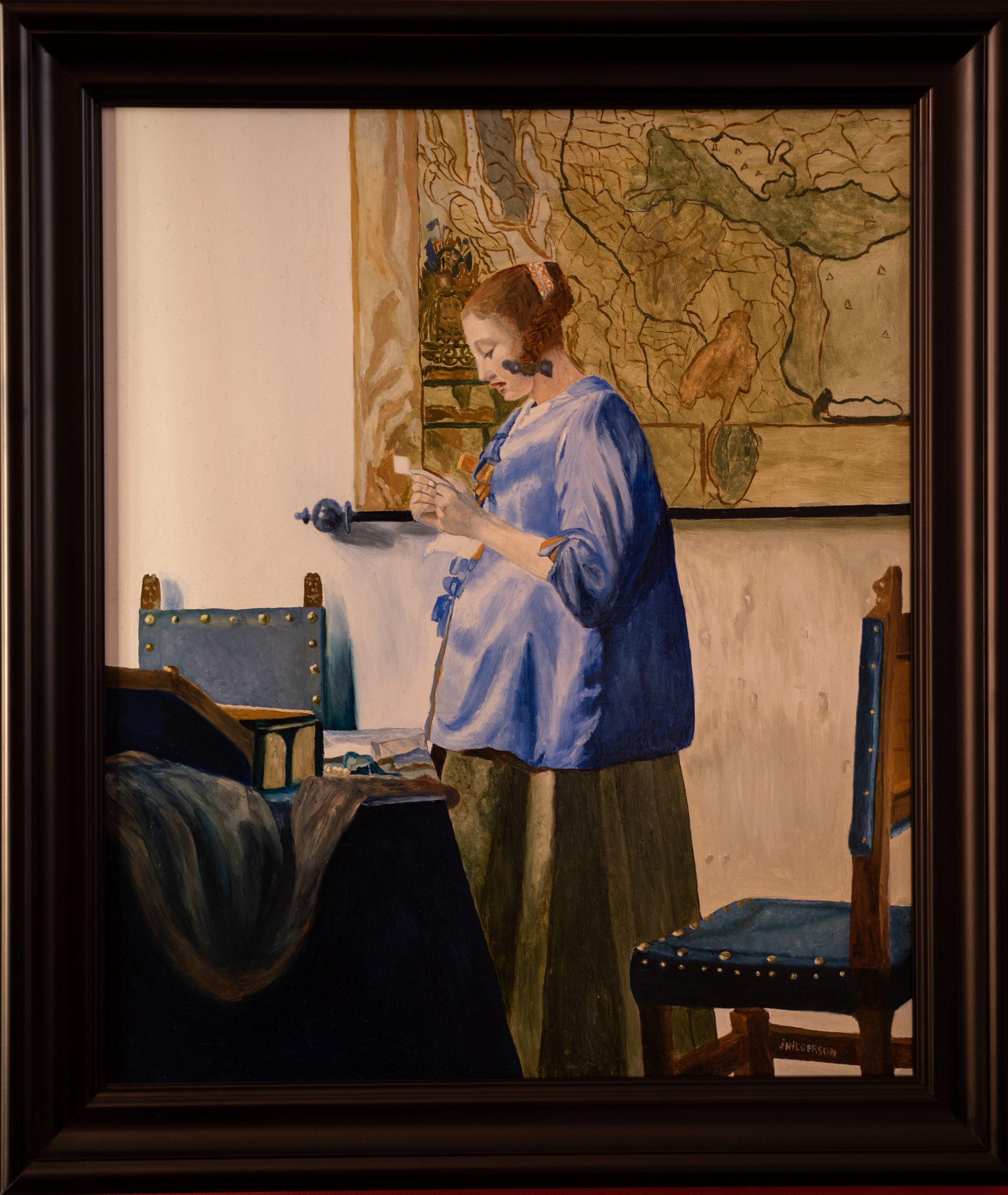 De brief lezende vrouw van Johannes Vermeer 1663